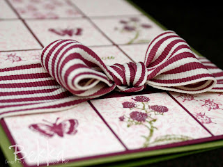 Stampin' Up! Rich Razzleberry Wide Striped Ribbon in action