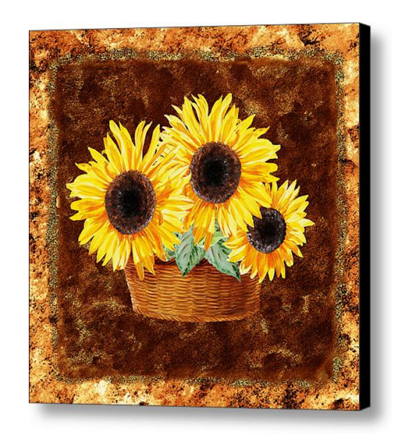 decorative sunflowers bouquet