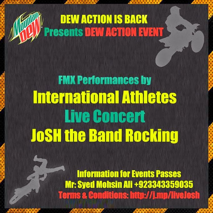 Dew Action is Back Live Concert by Josh band and International Athletes