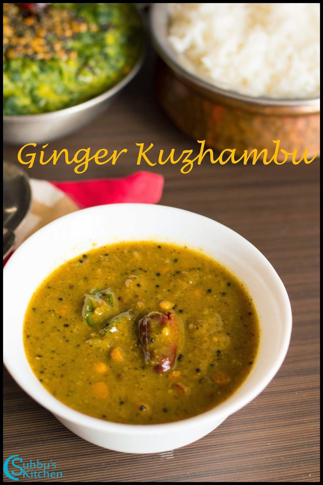 Inji Kuzhambu Recipe | Ginger Kuzhambu Recipe
