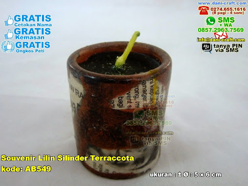 Souvenir Lilin Silinder Terraccota