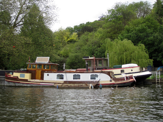 One of the many boats and yachts on Thames, Caversham near Reading by TANGRAMartworks