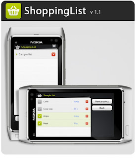 Download Shoppinglist v1.1 App for Nokia N8 / E7 / C7