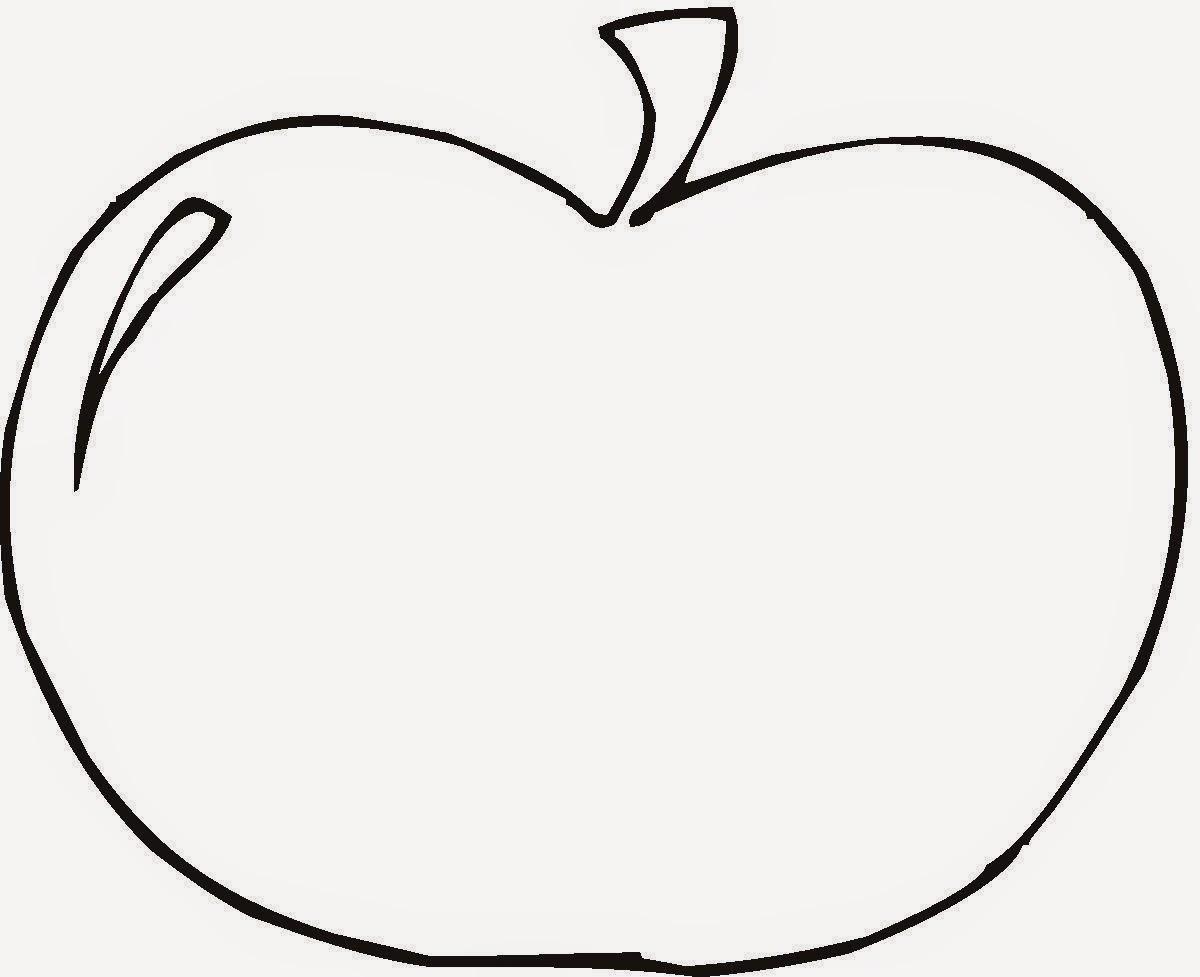 Gambar mewarnai buah apel untuk anak gratis