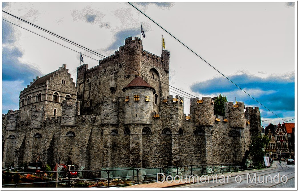 Castelo de Gent; Flandres; Bélgica; Gent Top 5