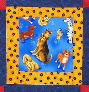 Robin Atkins, I Spy quilt, front, center block