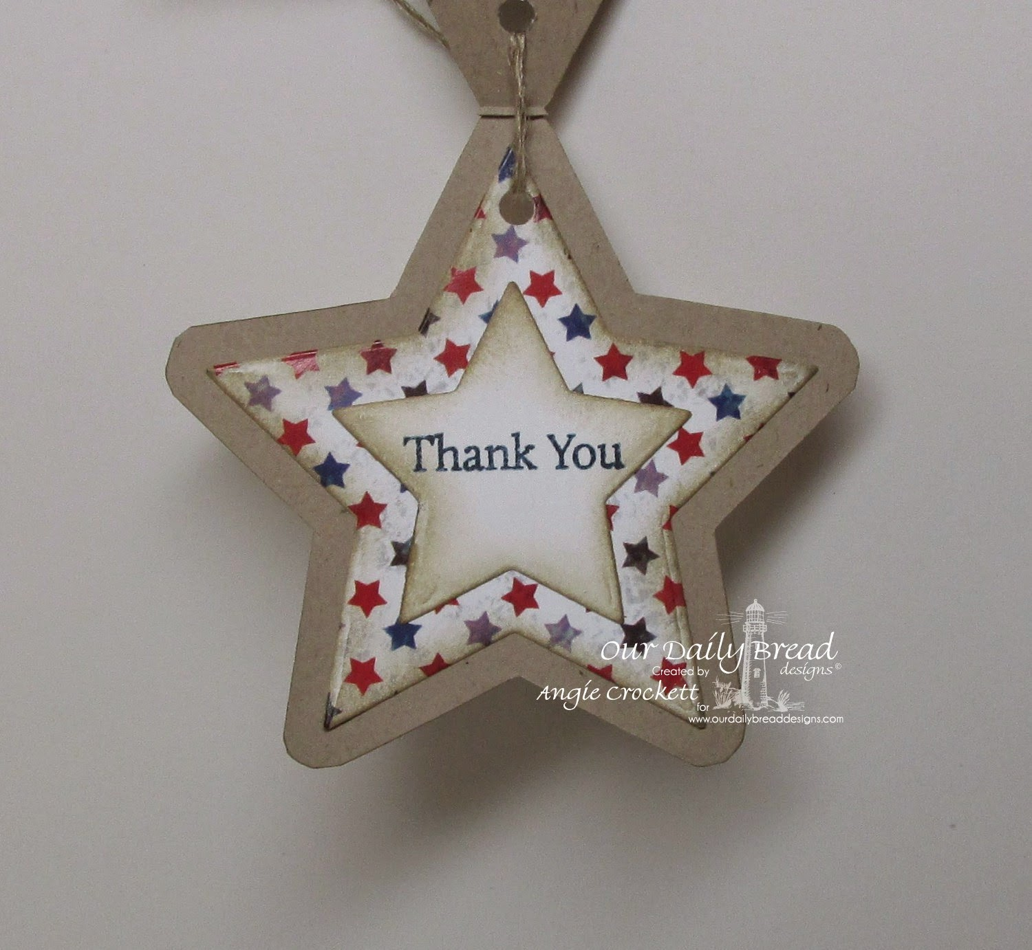 ODBD Custom Sparkling Stars Dies, ODBD Patriotic Paper Collection, ODBD Mini Tag Sentiments, Card Designer Angie Crockett