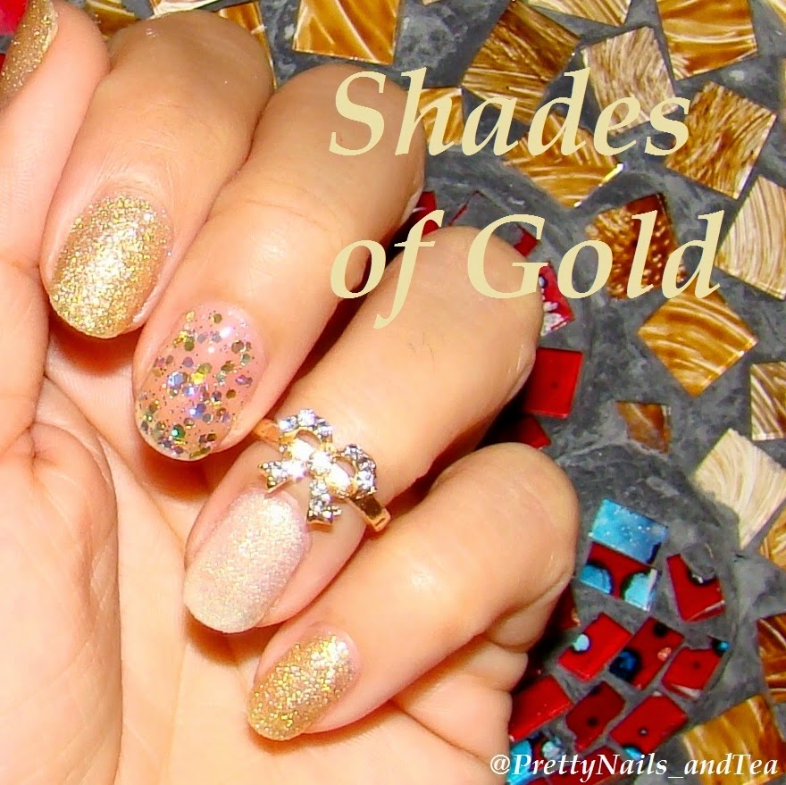 Nicole by OPI shades of gold