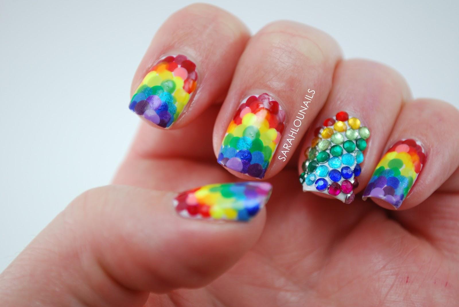 Sarah Lou Nails: Rainbow Nails!