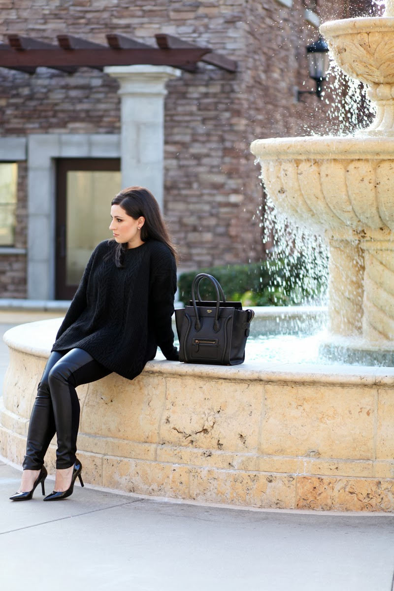 paige-faux-leather-leggings-nine-west-pumps-oversized-black-sweater-celine-handbag-all-black-king-and-kind-style-blogger-san-diego