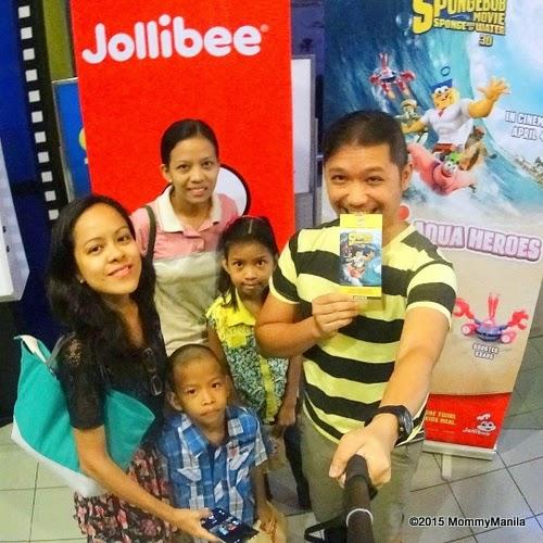 Family Bonding with Jollibee and SpongeBob The Movie