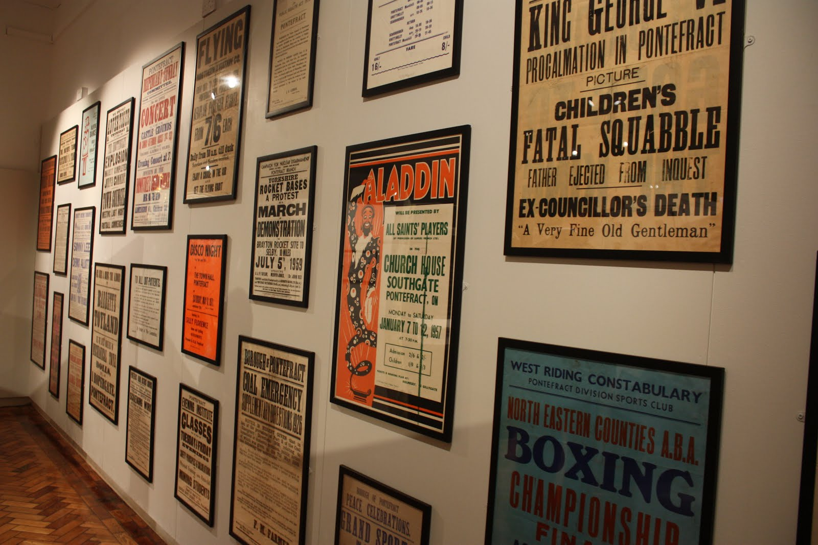 Poster design exhibition design large format wakefield - Pomfret S Printery Exhibition Now Open In Pontefract Museum