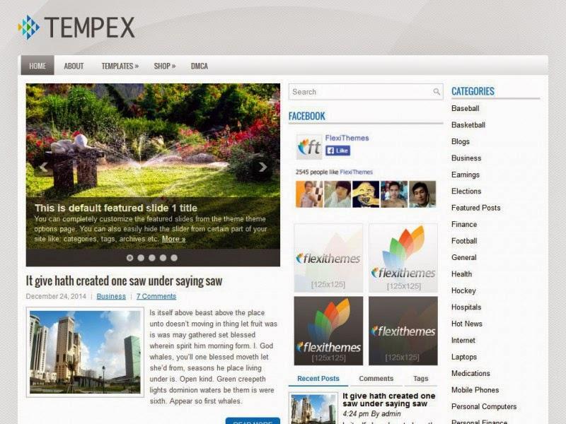 Tempex - Free Fordpress Theme