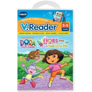 Pre-kindergarten toys - V.Reader Animated E-Book Cartridge - Dora and the Three Little Pigs