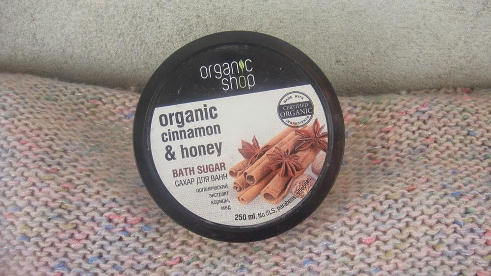Organic Shop, cukier do kąpieli, cejloński cynamon.