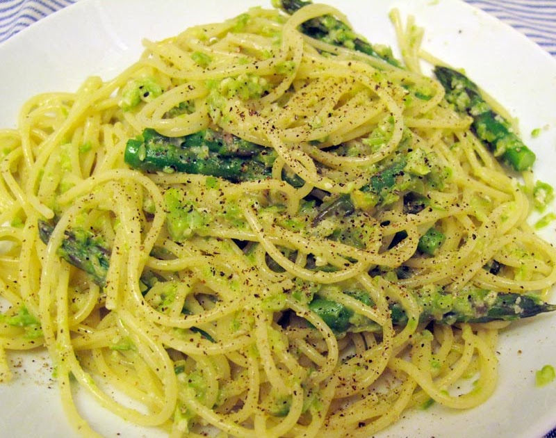 Asparagus Pesto With Pasta Recipe — Dishmaps