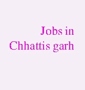 Jobs in Chattis Garh