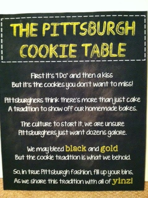 Doeblerghini Bunch:  The Pittsburgh Cookie Table Sign