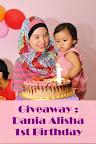 Giveaway : Dania Alisha 1st Birthday
