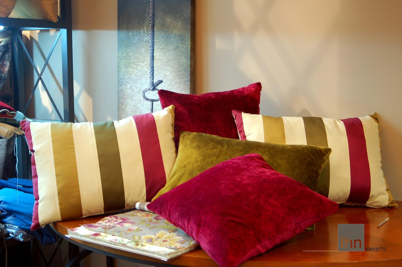 Outlet telas cojines de rayas y terciopelos - Outlet de telas en madrid ...