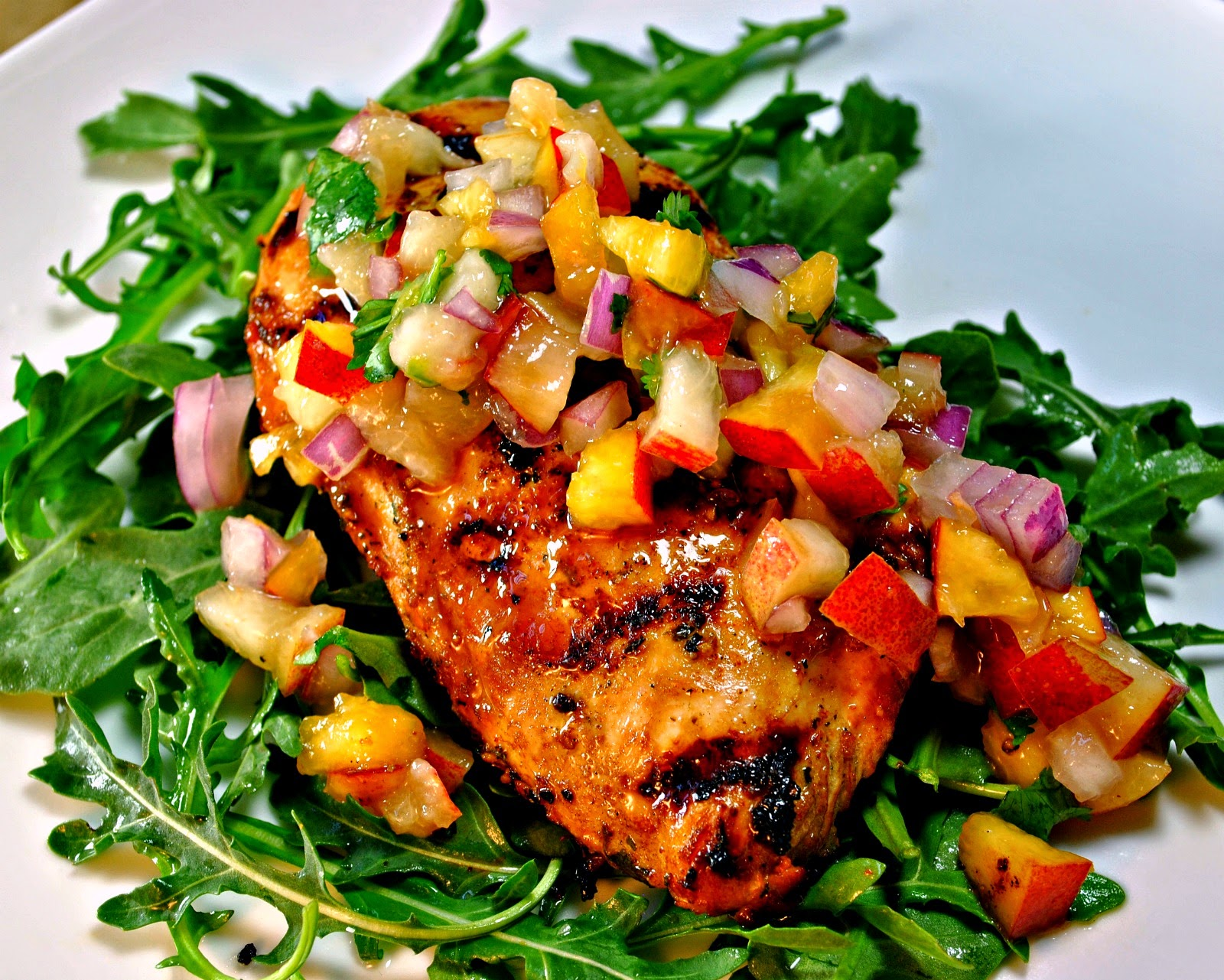 Soy-Citrus Grilled Chicken with Summer Fruit Salsa