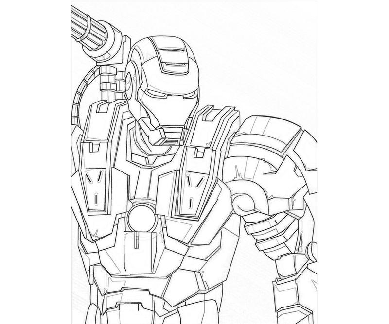 war machine coloring pages - printable marvel ultimate alliance 2 war machine cartoon