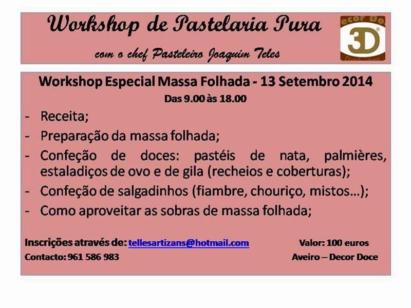 Workshops de pastelaria em Aveiro