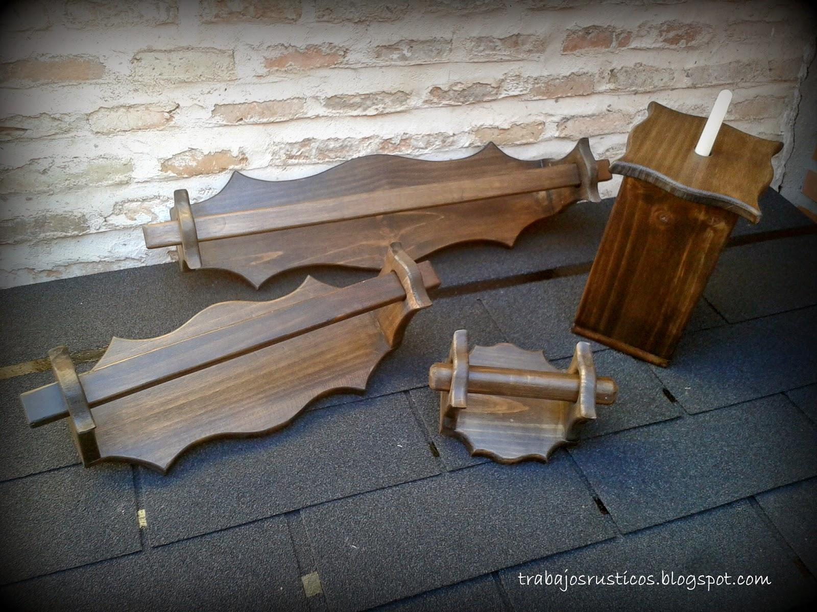 Trabajos r sticos conjunto de accesorios para el ba o for Conjunto de accesorios de bano