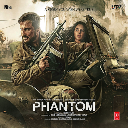 Poster Of Bollywood Movie Phantom (2015) 375MB Compressed Small Size Pc Movie Free Download