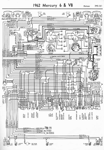 wiring diagrams 911 1962 mercury 6 and v8 meteor wiring diagram