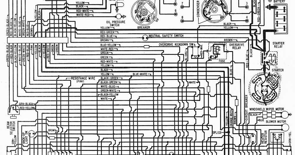 1962 Mercury 6 and V8 Meteor Wiring Diagram | Panel switch wiring
