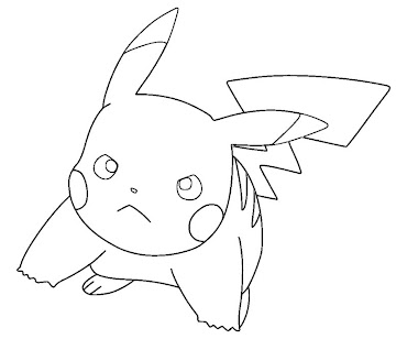 #5 Pikachu Coloring Page