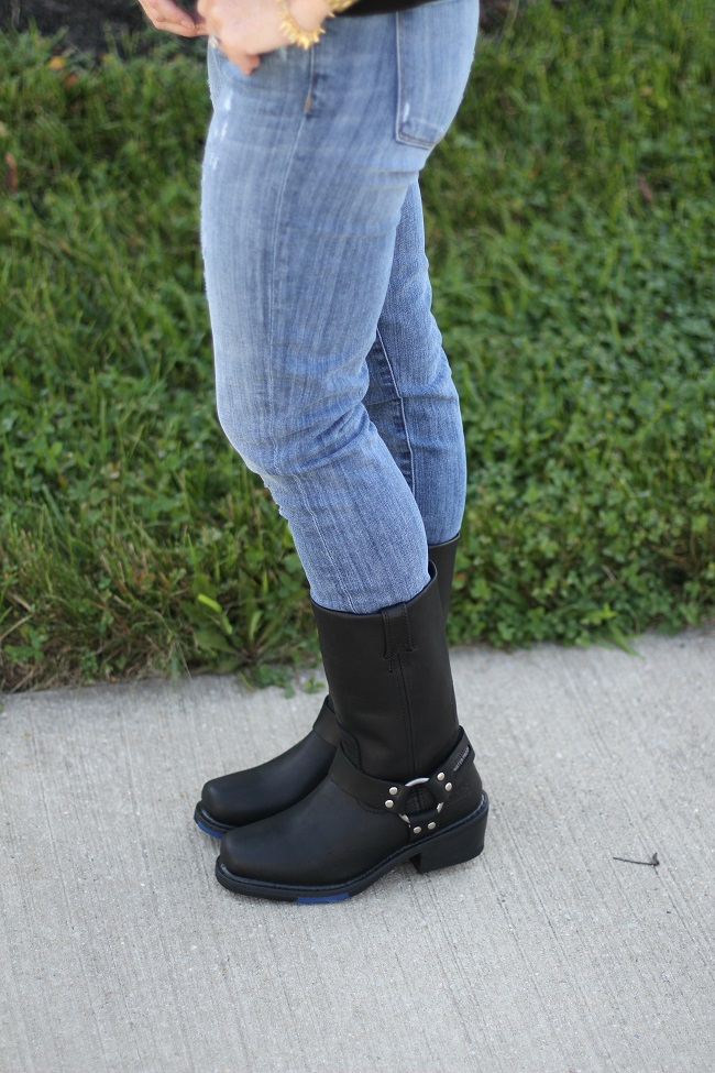 bates moto boots, deeredoran, fall fashion, JCrew, leather trends 2013, Loft, moto boots, Old Navy, Prada,