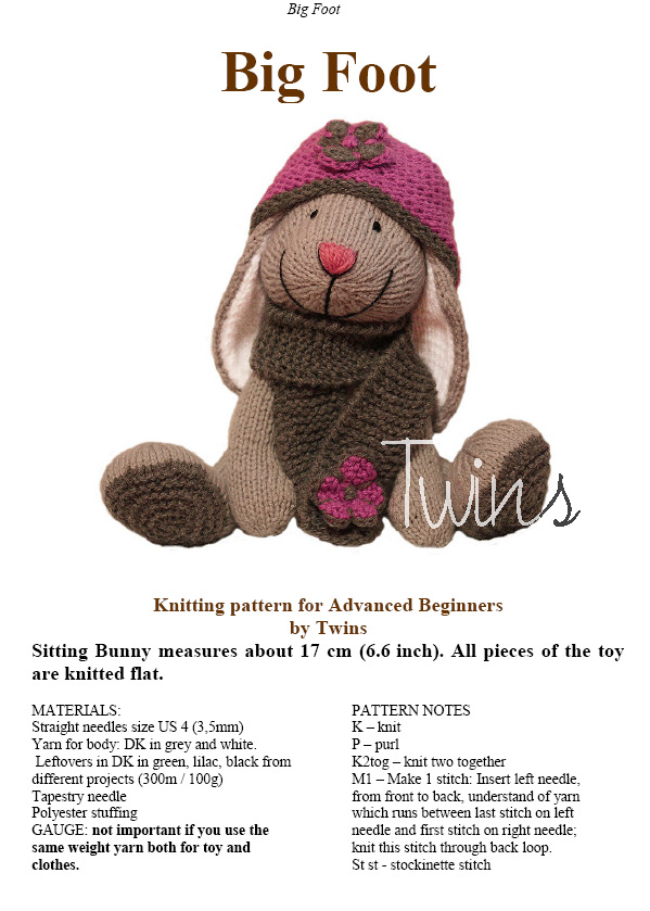 Twins Knitting Pattern MiniShop