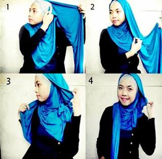 Cara memakai jilbab gaul yang simple