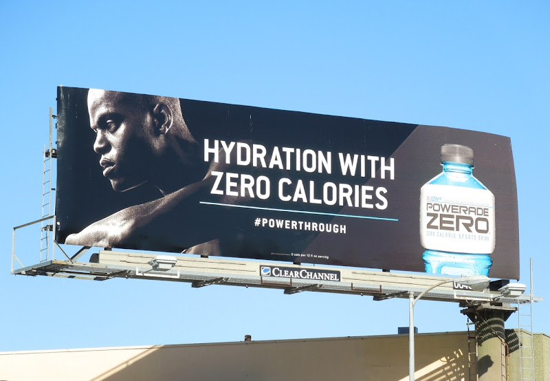 Powerade Zero billboard