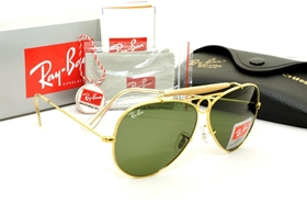 ray ban rb3138 shooter gold frame dark green g 15 lens