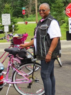 African American bicyclist