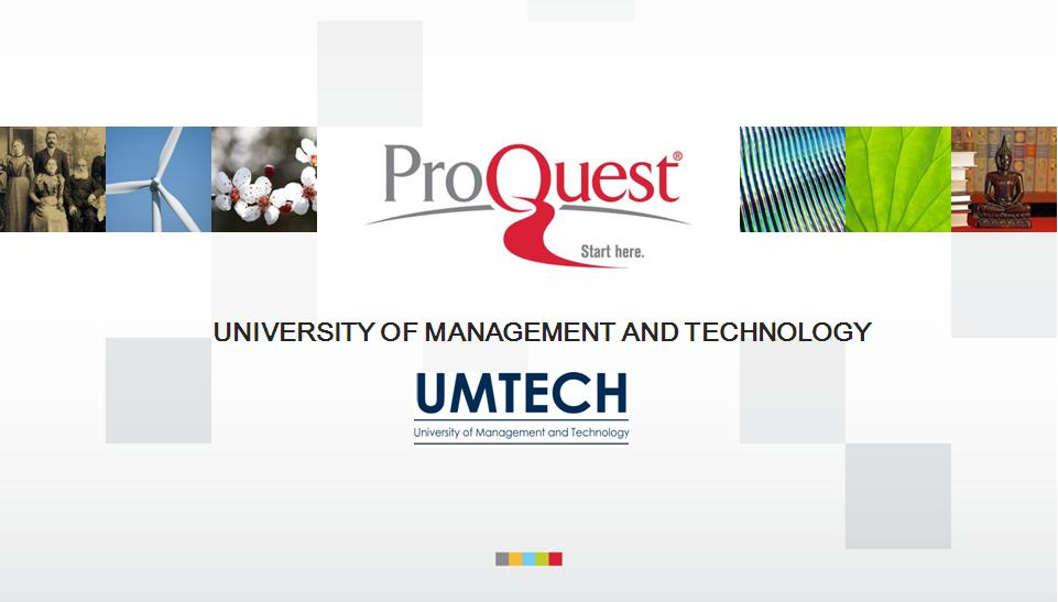 proquest theses and dissertations database