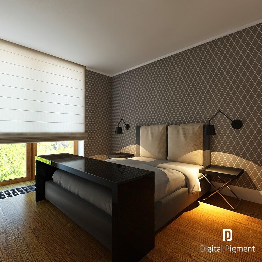 akcja aranżacja tapeta w sypialni