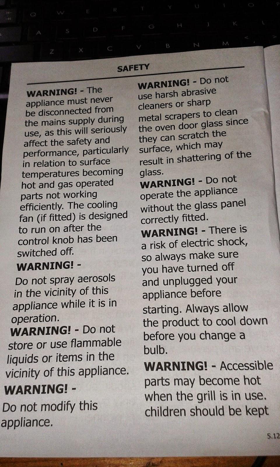 belling fan oven instructions