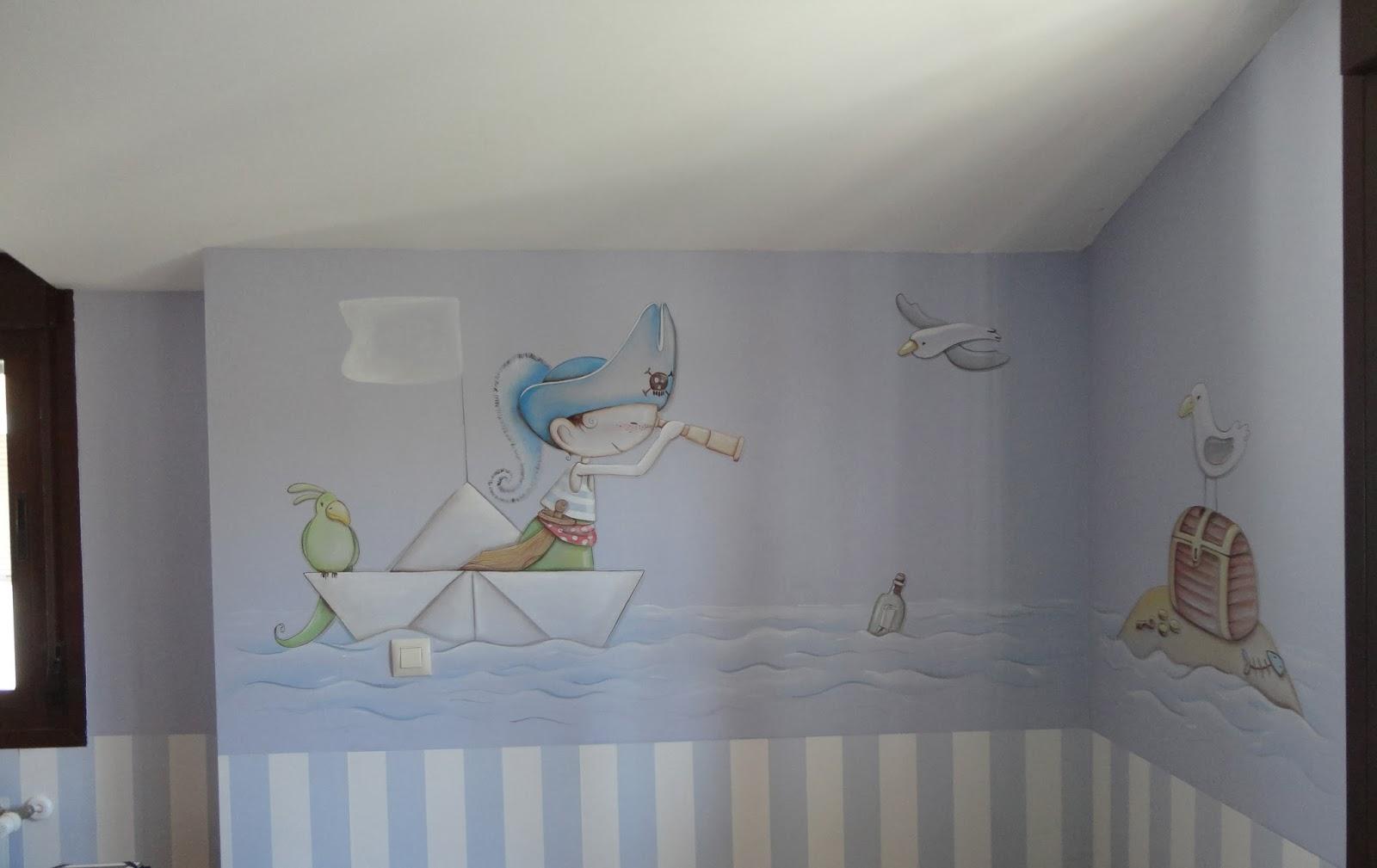 Decopared mural piratas - Murales habitaciones infantiles ...