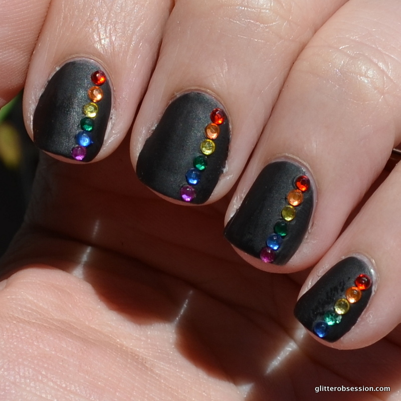 31cd2013 31 Day Challenge Nail Art Black Nails