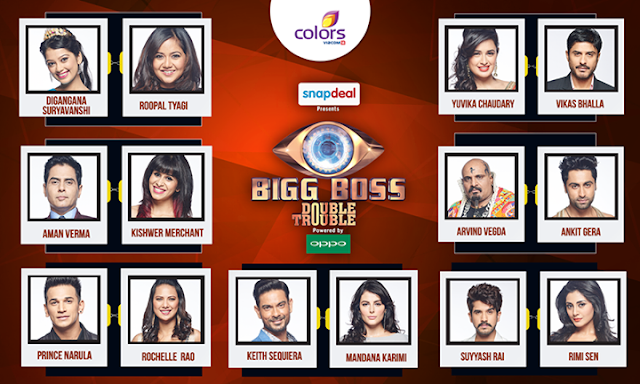 Bigg Boss Season 9 Double Trouble Contestants Name wiki, Big Boss 2015 Contestants List with Photos & Images, Bigg Boss 9 Double Trouble Contestants List, Bigg boss season 9, Video, News