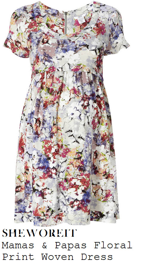 holly-willoughby-bright-multicoloured-blurred-floral-print-short-sleeve-smock-dress-this-morning-morning