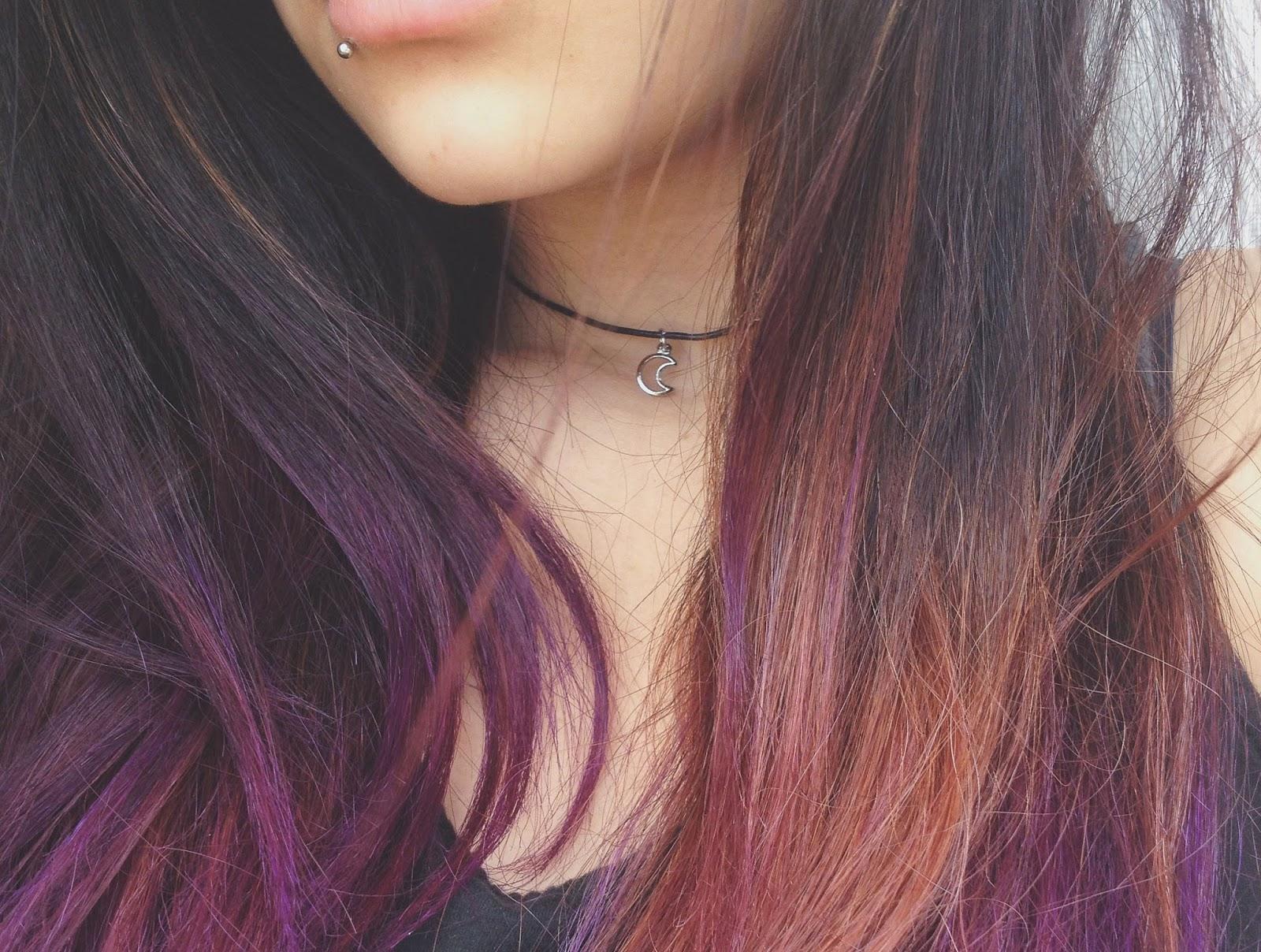 Populares Moonlight: Pintando o cabelo com Violeta Genciana SQ39