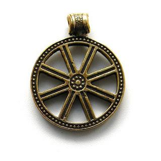 купить кулон колесо сварога славянские обереги символы