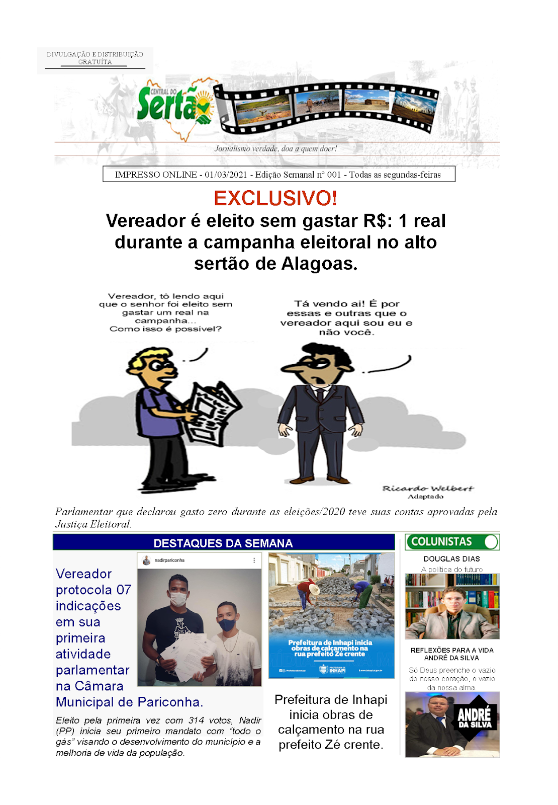 IMPRESSO ONLINE - Edição nº 001 Segunda-feira - 01/03/2021