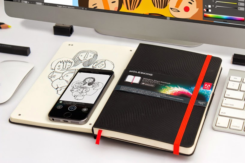 Adobe Creative Cloud connected Moleskine Smart Notebook