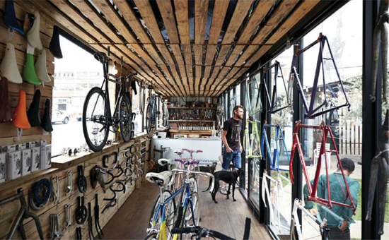 Safari Fusion blog | Ship it [part 2] | ustom bicycles created in a shipping container | Whippet Cycle Co Maverick Corner, Maboneng precinct, Johannesburg South Africa